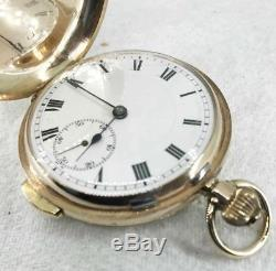 RARE ANTIQUE 9ct GOLD HUNTER REPEATER POCKET WATCH C. 1900
