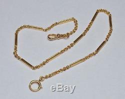 RARE! Rolex OEM Solid 14K Gold Antique Pocket Watch Chain Fob 16.6g Vintage 14