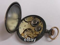 RARE montre Boussole Solaire Emile Lainé Antique compass pocket watch 24h Uhr
