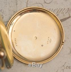 RUBY CYLINDER Solid 18k Gold REPEATING REPEATER Antique Pocket Watch