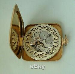 Rare Antique 14k Solid Gold Waltham Ruby Open Face Pocket Watch
