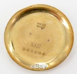 Rare Antique 18k Gold & 5 Diamond Tiffany & Co 17j Ladies Pocket Watch By Haas