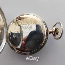 Rare Antique Bienne Geneve Omega Pocket Watch