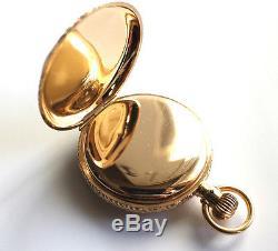 Rare Antique Elgin 14K Hunter Solid Gold Case Pocket Watch Circa 1887