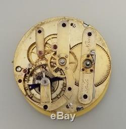 Rare Antique H Perregaux Spring Detent Chronometer Pocket Watch Movement