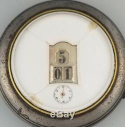 Rare Antique Jump Hour Digital Pocket Watch Gedeon Thommen Gt Iwc Pallweber
