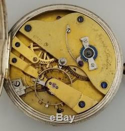 Rare Antique K Kraut Pocket Chronometer Watch Helical Hairspring 1853 London