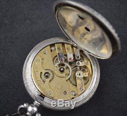 Rare Antique Ottoman Turkish Military Silver Pocket Watch Dent London