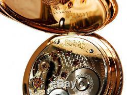Rare Antique Railroad 23J 18s Waltham Vanguard Pocket Watch Mint Serviced