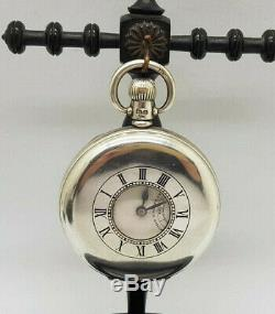 Rare Antique Rolex Half Hunter Solid Silver Pocket Watch 50 MM