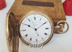 Rare Antique Rolled Gold Russell & Son Chronograph Full Hunter Pocket Watch