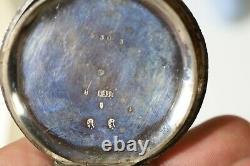 Rare Antique Silver Triple Dial Pocket Watch Calendar Aa5