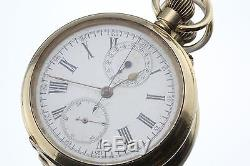 Rare Antique Split Second Chronometer Pocket Watch Scaled to 300 Double Register