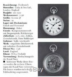 Rare EM TISSOT DECK CHRONOMETER Antique Vintage Pocket Watch