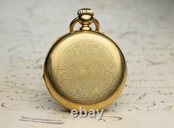 Rare FUSEE CHRONOMETER by L. AUDEMARS 18k Gold Antique Pocket Watch