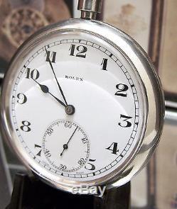 Rare Ww2 Rolex Antique Vintage Military Chronometer Back Up Pocket Watch + Case