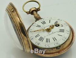 Rare antique 18th Century French Vigniaux a Toulouze Verge Fusee watch. Ottoman