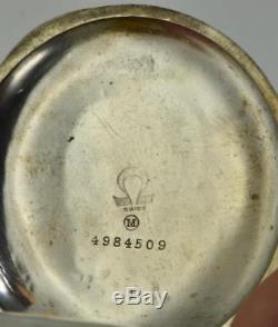 Rare antique Omega Memento Mori Masonic/Doctor's Skull Chronograph pocket watch
