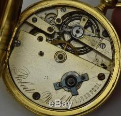 Rare antique Robert Roskell Ottoman 18k Gold plated silver watch. Tughra case