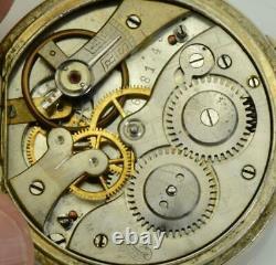 Rare antique Victorian Skull Memento Mori Phoenix pocket watch. Fancy dial