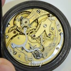 Rare antique gunmetal chronograph pocket watch c1900's. A project for Repair