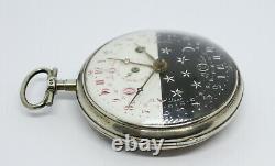 Rare grande montre à coq / antique verge pocket watch / Spindel taschenuhr