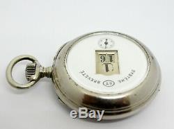 Rare montre gousset guichets Breveté / antique pocket watch / antike taschenuhr