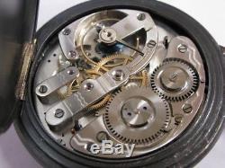 Regulateur triple quantièmes et phases de lune Antique moonphase pocket watch