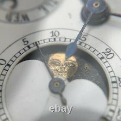 Repeater Moon Phase Triple-Date Chronograph pocket watch antique gold rare vinta