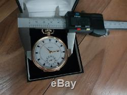 Rolex 1919 solid gold pocket watch, fully hallmarked, antique collector's dream