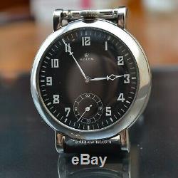 Rolex GSTP British WW2 pilots black aviator antique military vintage mens watch