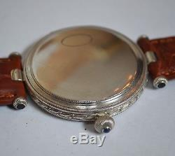 Rolex Marconi Full Hunter Antique Military WW1 Trench Mens Watch Solid Silver