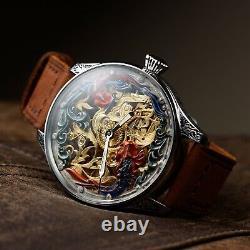 Rolex Men Skeleton watch, old Antique Pocket Watch, swiss, personalised watches