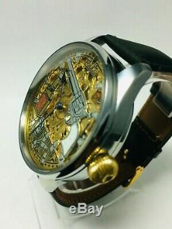 Rolex vintage wristwatch marriage watch pocket movement custom watch skeleton