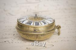 SINGLE HAND OIGNON Verge Fusee Antique Pocket Watch from LATE XVII 1690-1700