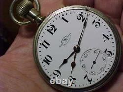 SUPER 19J BALL HAMILTON 999 18s SALESMANS CASE TIME ZONE RR ANTIQUE POCKET WATCH