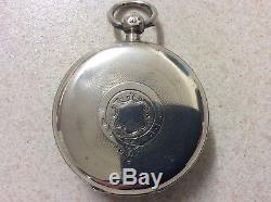 Silver English Fusee Lever Pocket Watch 1898, Working Perfectly