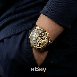 Skeleton men watches, antique pocket watch, handcrafted watch, vintage style watch
