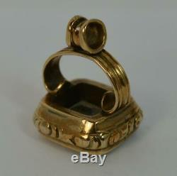 Sold Gold & Rock Crystal Pocket Watch Fob Seal Pendant UNITE t0424
