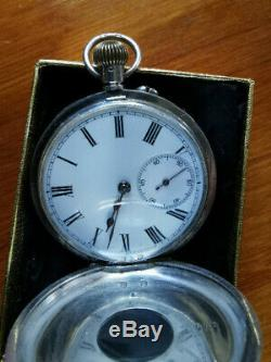 Solid Silver 1910 Half Hunter Pocket Watch
