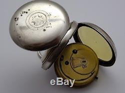 Solid Silver Cased Pocket Watch W. E. Watts Mens Edwardian Rare