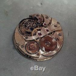 Sthi & Brün 1905 antique pocket watch movement w tourbillon-like regulator