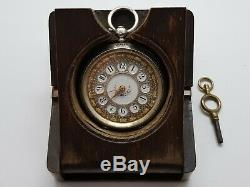 Stunning Edwardian Silver Fob Watch Mounted In Olive Wood Holder F. W. Order