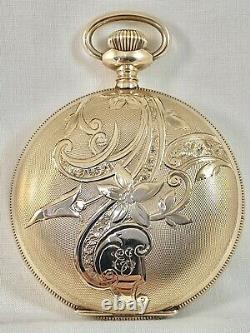 Stunning Museum Quality 19j M 1892 Crescent St Waltham Gold Antique Pocket Watch