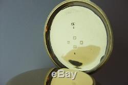Super Antique Solid 18ct Gold Keyless Half Hunter English Pocket/fob Watch