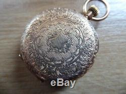 Superb Antique 14ct Gold Ladies Fob / Pocket Watch Working