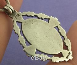 Superb Antique Hallmarked Fancy Link Solid Silver Albert Pocket Watch Chain Fob