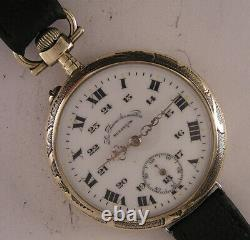 Superb Besancon La Reine des Montres 1900 Antique French Wrist Watch MINT