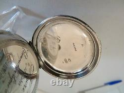 Superb Swiss 2 Tone Solid Silver Case Multi Functional Pocket Watch Working