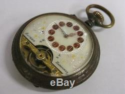 Superbe montre Hebdomas 8 jours days dias Tage Giorni Pocket watch Antique 1900s